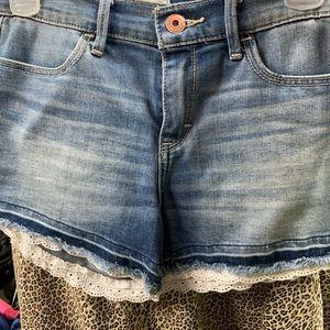 Girls blue jean shorts